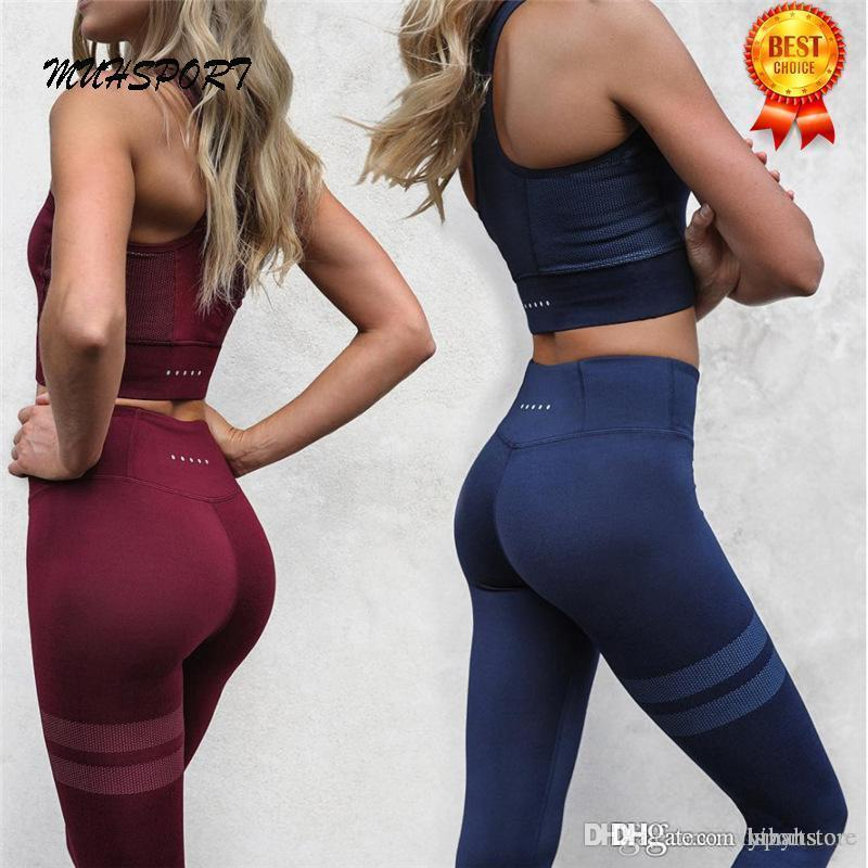 Athletic Activewear Set Yoga Shirt Top Joga pantaloni a vita alta Leggings Leggins Fitness Sport Donne Suit Yoga usura di fitness Yihan