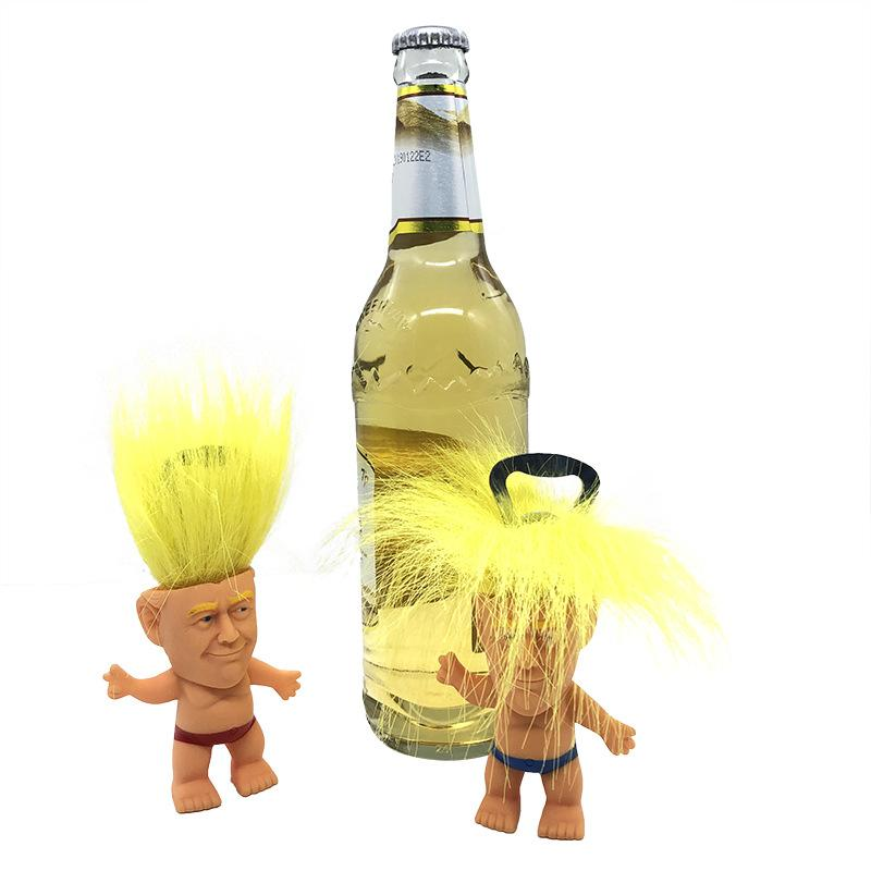 Precident Donald Trump Figure Dolls Bottle Opener Novelty Cartoon Beer Bottle Openers PVC Troll Doll Toys Funny kitchen supplies 2019 A43001