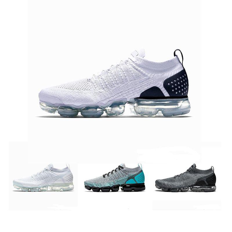 2019 Nike Air VaporMax max Off white Flyknit Utility Hombres Mujeres Classic Run zapatos al aire libre Vapor blanco Shock deportivo Footing Walking