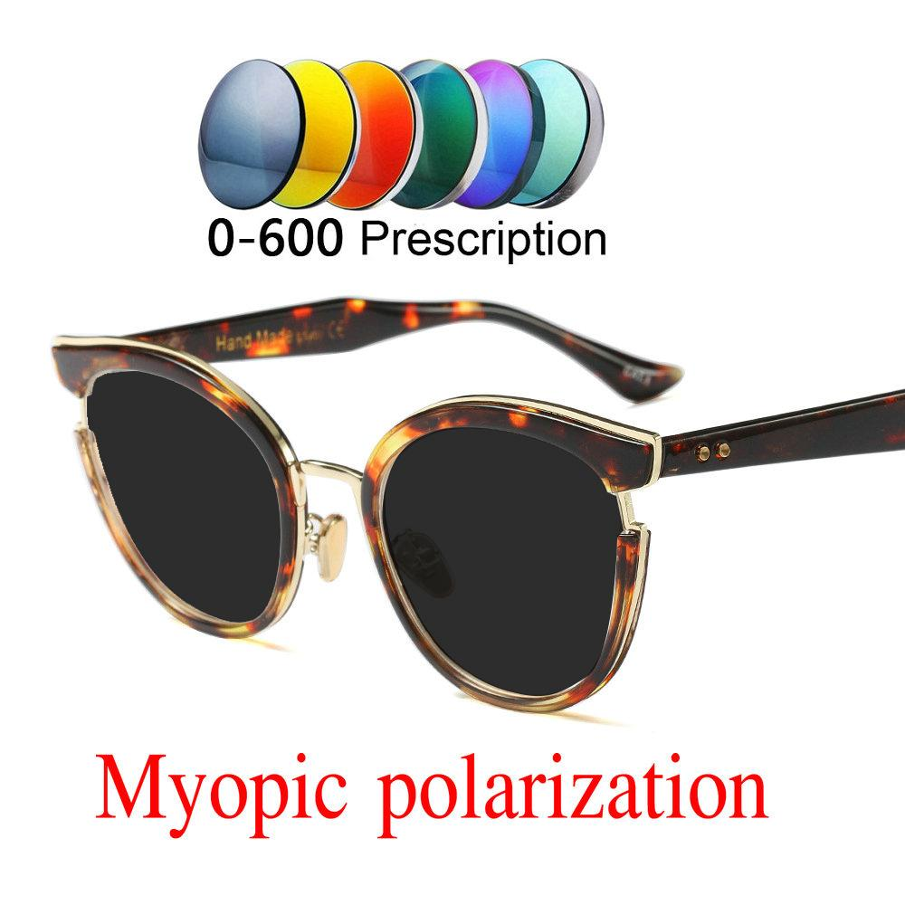 5deeb34450 2019 Custom Made Myopia Minus Prescription Polarized Lens Sunglasses Women  Designer Vintage Optical Myopia Cat Sun Glasses NX Custom Sunglasses Heart  Shaped ...