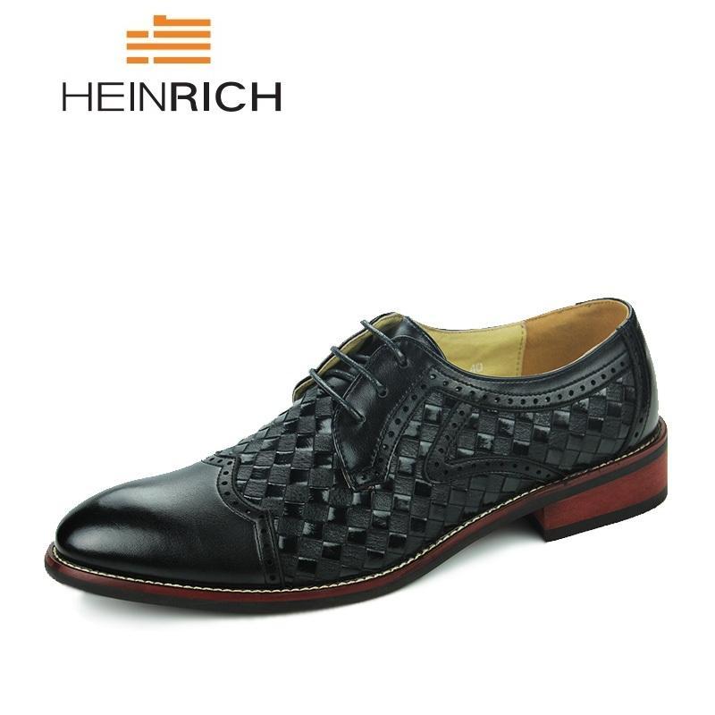 eb635d88 Compre HEINRICH Hombre Brogues Oxford Zapatos Moda Marca Hombres Zapatos  Casuales Confort Hombres Cuero Formal Chaussure Homme Mariage A $43.28 Del  Liucpik ...