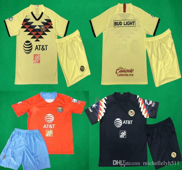 b49701288 2019 19 20 LIGA MX Club America Socce Jersey Shorts Home Away Third Soccer  Kits O.PERALTA I.RENATO MATHEUS Football Sets Adults Soccer Uniform From ...