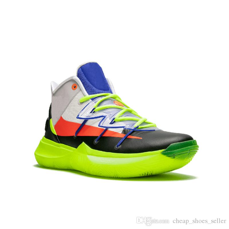 41349aee322 2019 2019 New 5 5s Basketball Shoes All Star For Top Quality Kyrie  Chaussures Green Rokit Mens Trainers Sports Sneakers 40 46 From  Cheap shoes seller
