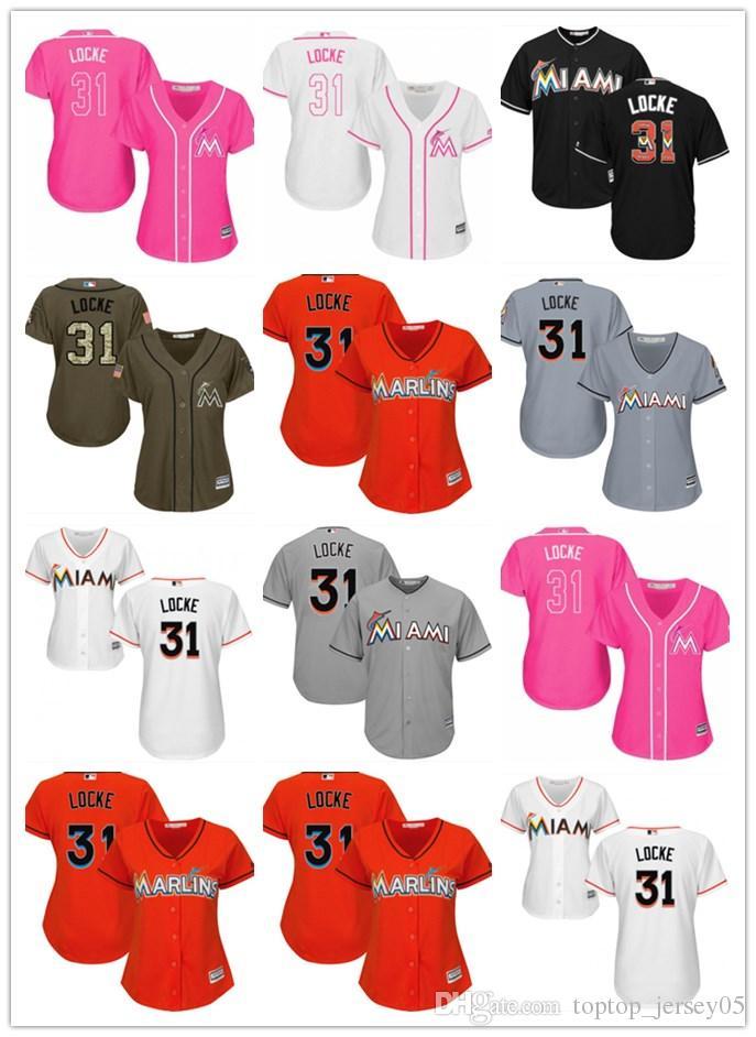 release date: 2b40e 35cd6 2018 top Miami Marlins Jerseys #31 Jeff Locke Jerseys men#WOMEN#YOUTH#Men s  Baseball Jersey Majestic Stitched Professional sportswear