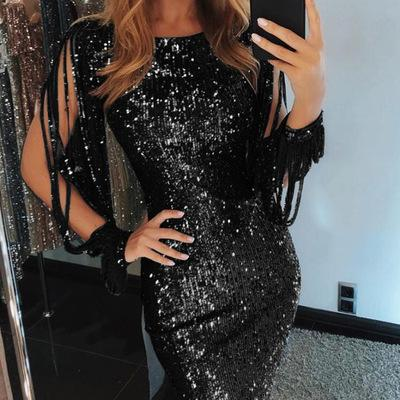 5df428b302e4b Women Bodycon Dresses Hot Sell Women Sexy Dresses 2019 New Arrival Womens  Spring Skirt with Sequins Fashion Female Casual Dresses