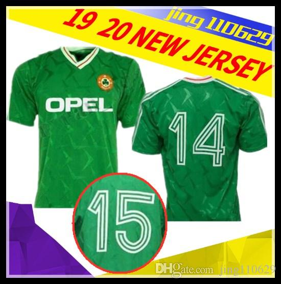 6a4ac1522b0 2019 Size S XXL High Quality 1990 1992 Ireland Retro Soccer Jersey 1990  World Cup Ireland Home Classic Jersey Vintage Irish Sheedy Football Shirt  From ...
