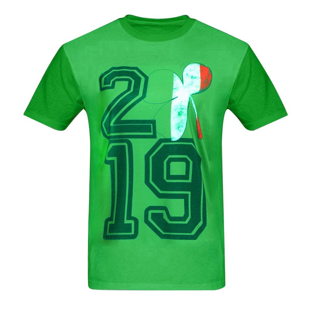 Engraçado T-Shirt de Manga Curta Dos Homens 2019 Mens Casual Roupas Casal Dia de São Patrício Impressão Camisa Verde T Streetwear Top