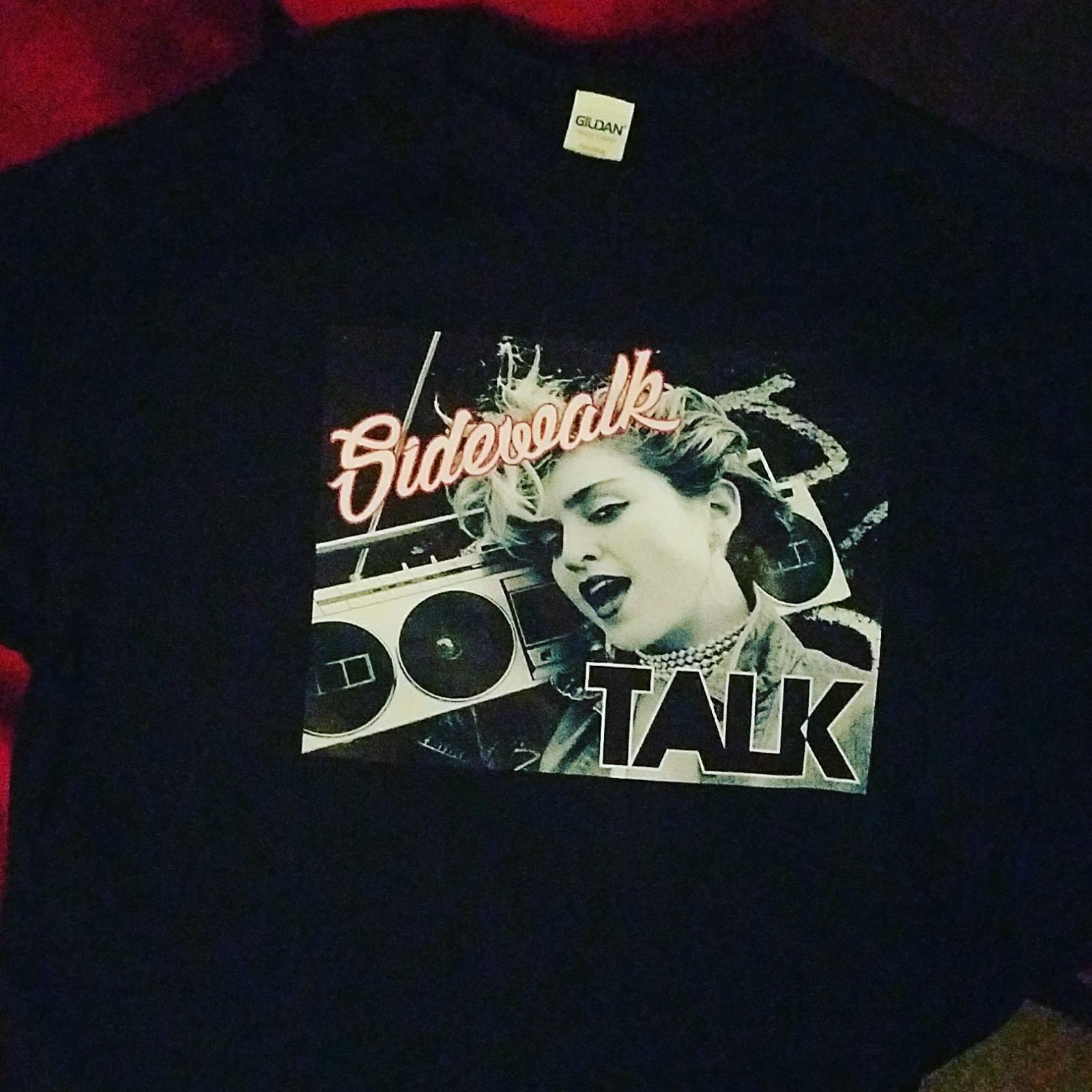 24f955263cdf7 Black Classic 80 S Madonna Sidewalk Talk T Shirt S 2XL Size Discout Hot New  Tshirt Short Sleeve Plus Size T Shirt Party T Shirts Collared T Shirts From  ...