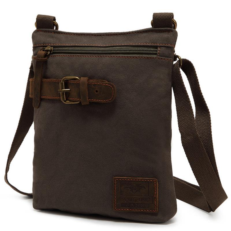 16d1889b5 2019 Vintage Canvas Men's Male Messenger Bags Retro Lightweight Small Crossbody  Bags Handbag Travel School Shoulder Bag