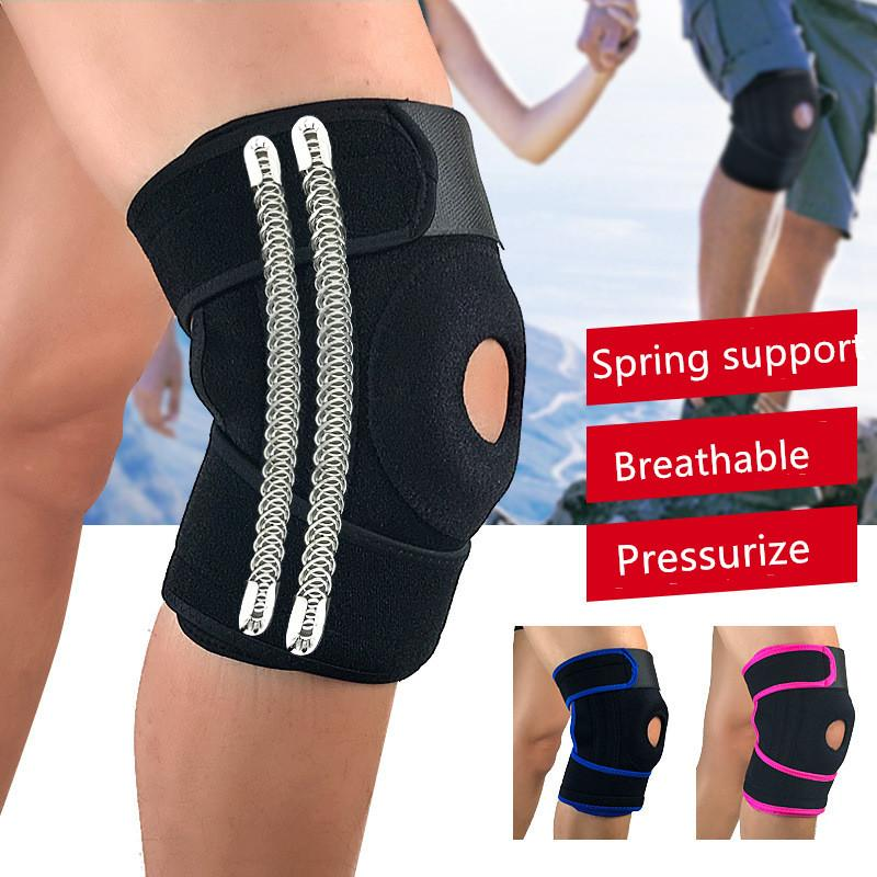 096eccf1c3 2019 Knee Brace Support Compression Winding Spring For Climbing Basketball  Fitness Weightlifting Knee Pads Support Sleeve From Teawulong, $41.92 |  DHgate.