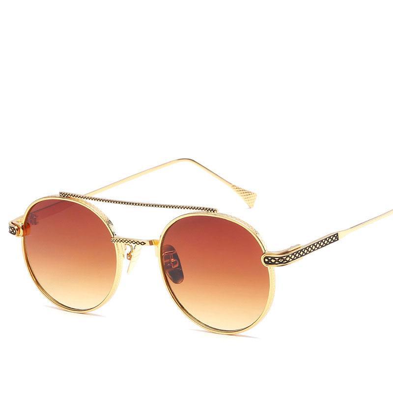 c6e0b1c2f6 Compre 2018 Gafas De Sol Redondas Vintage Para Hombre Y Mujer Con Montura  Metálica Retro Gafas De Moda Unisex Gafas De Sol A $6.1 Del Jyy1201992 |  DHgate.