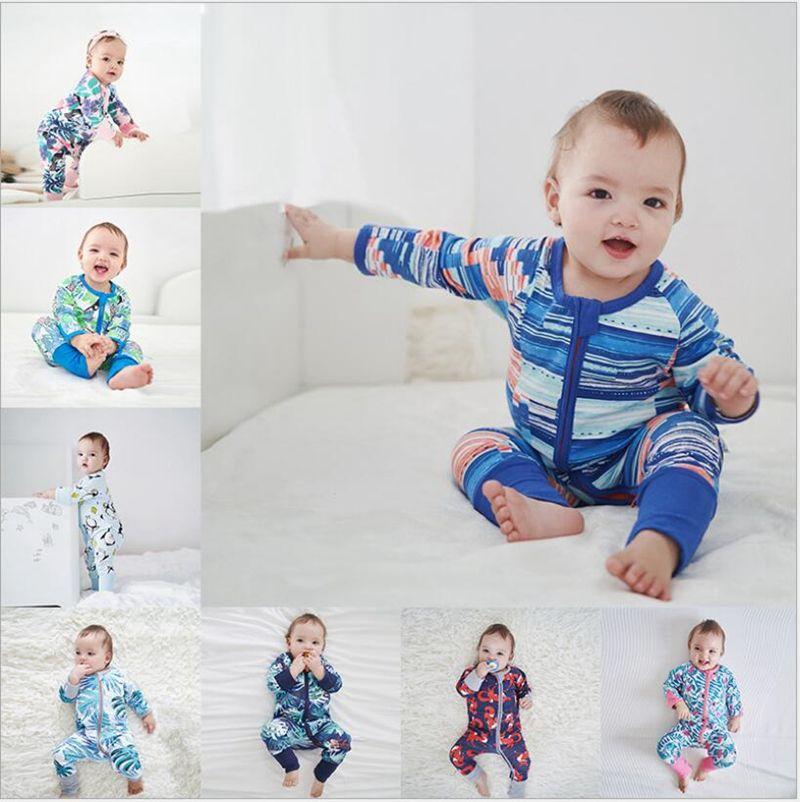 6259f0de6 Newborn Baby Girls Clothes Infant Long Sleeved Jumpsuits Boys Cotton ...