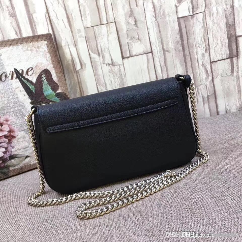 fdb30a90572 2018 New Women Genuine Leather Original Top Best Quality Clutch Classic Shoulder  Bags On Chain Soho Bag For Lady Crossbody Handbags 336752 Purses For Sale  ...