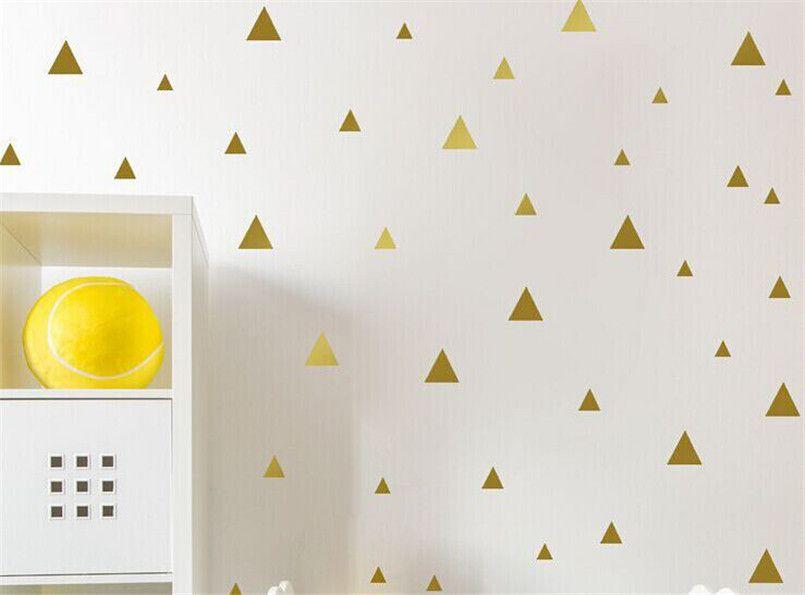 DIY Triangles Stickers Muraux Vinyle Stickers Art Moderne Décor Kids Room Mur Simple Et Créatif Multi-taille Amovible Stickers Muraux