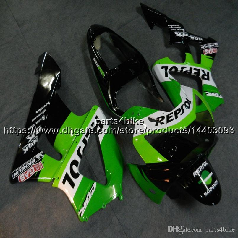 23colors+Custom Injection mold ABS repsol green motor Fairing For Honda 00 01 CBR929RR 2000-2001 motorcycle hull