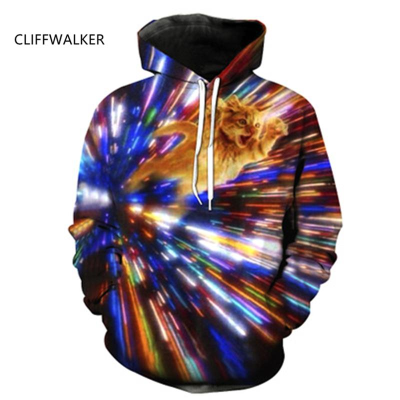 241155780a 2019 Dropshipping For Unisex Cat 3D Print Sweatshirts Harajuku Autumn  Hooded Tops Galaxy Space Kitty Cartoon Hoodies From Zanzibar