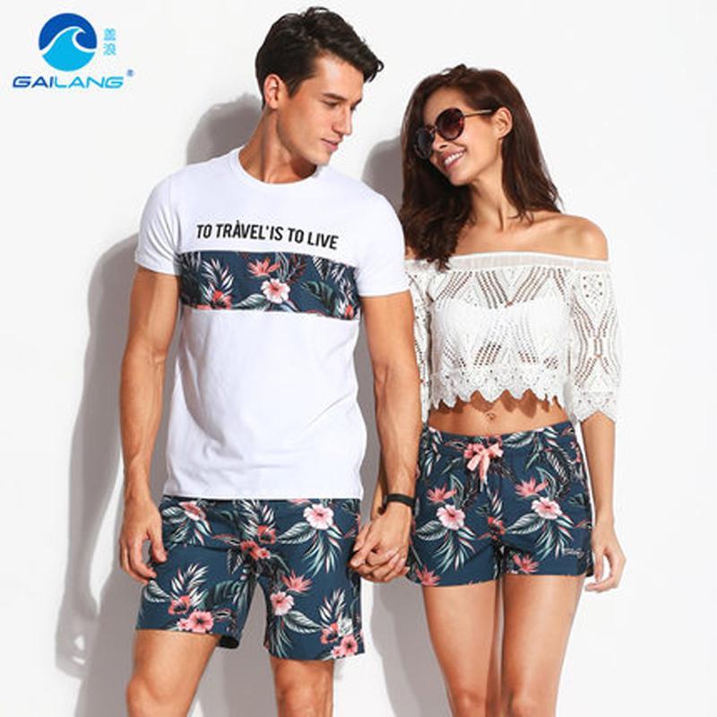 123f8e536d 2019 Quick Dry Beach Shorts Men Women Printed Couple Swimwear Elastic Swim  Trunks Sport Swimming Surfing Lovers Short De Bain Homme C19040301 From  Shen8402, ...
