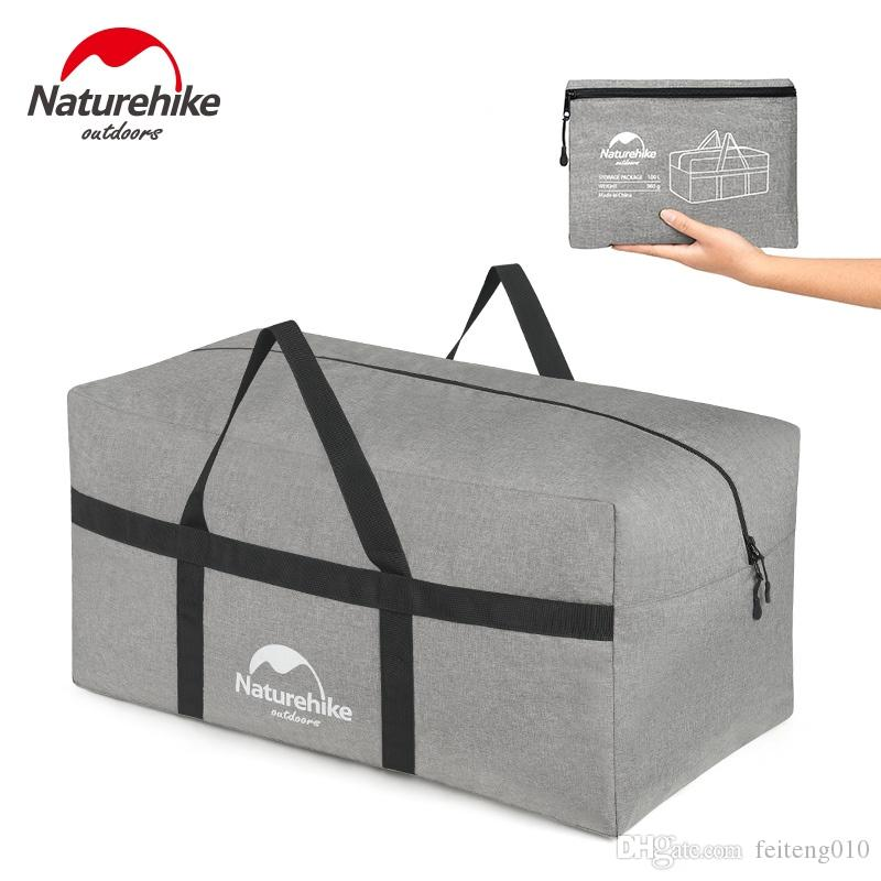 0498fed085fb Naturehike Folding Large Capacity Storage Bag Outdoor Ultralight Durable  Bags Duffel Bag Portable Travel Camping 45L 100L #762863