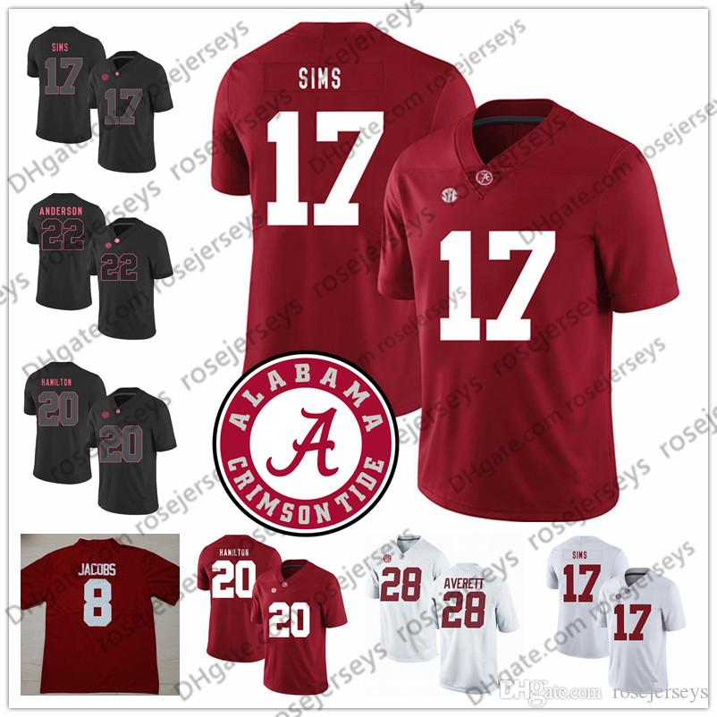 free shipping 7f845 8d59d NCAA Alabama Crimson Tide #15 Ronnie Harrison 17 Cam Sims 20 Shaun Dion  Hamilton 22 Ryan Anderson 28 Anthony Averett Red White Jersey