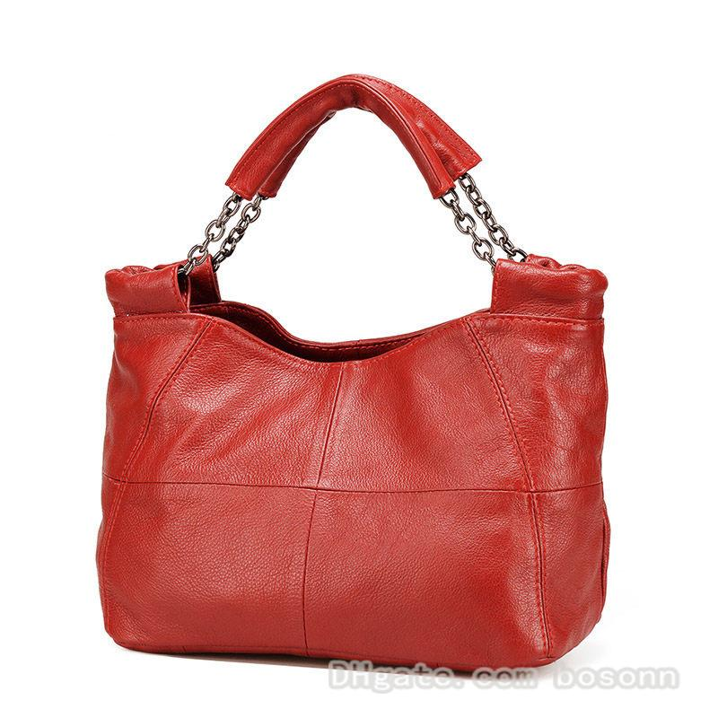 Wholesale genuine leather shoulder bags tote bag fashion designer handbag crossbody purse party bag for women and girls