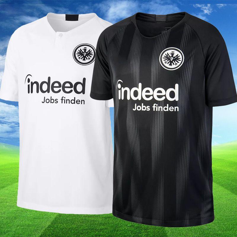 Compre Frankfurt 2018 2019 Camisas De Futebol Em Casa Preto Branco  FERNANDES 5 HALLER MULLER JOVIC 8 KOSTIC 2018 CAMISOLAS DE JÉRSEI De  Usoccerjersey 7fdda39f859df