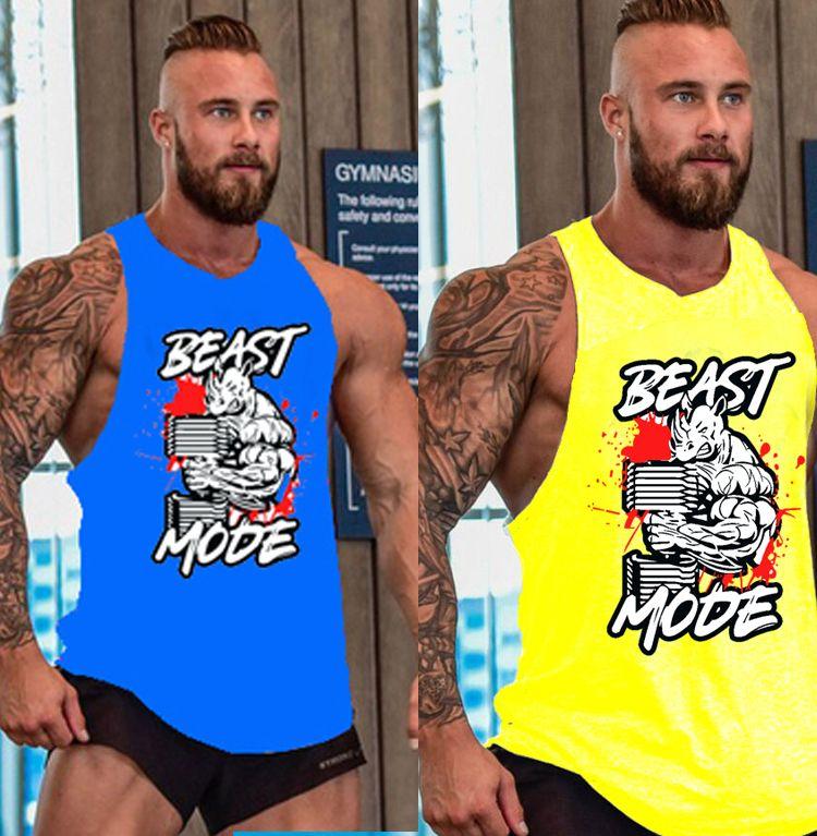 f9f6d71b305d8a 2019 Men S Running Shirts Compression Tights Gym Tank Top Fitness Sleeveless  T Shirts Sport Best Running Vest From Ebayfj