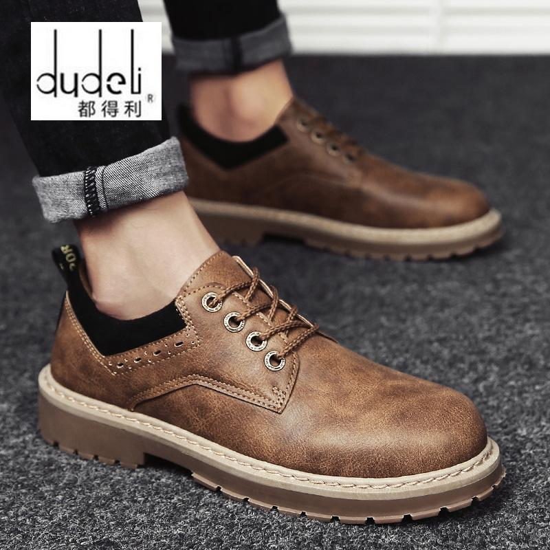 589b94090 DUDELI 2018 New Young Fashion Comfortable Oxfords Shoes Rubber Outsole Anti  Skid Shoes Men S Casual Leather Driving AA 022 Boots Shoes White Mountain  Shoes ...