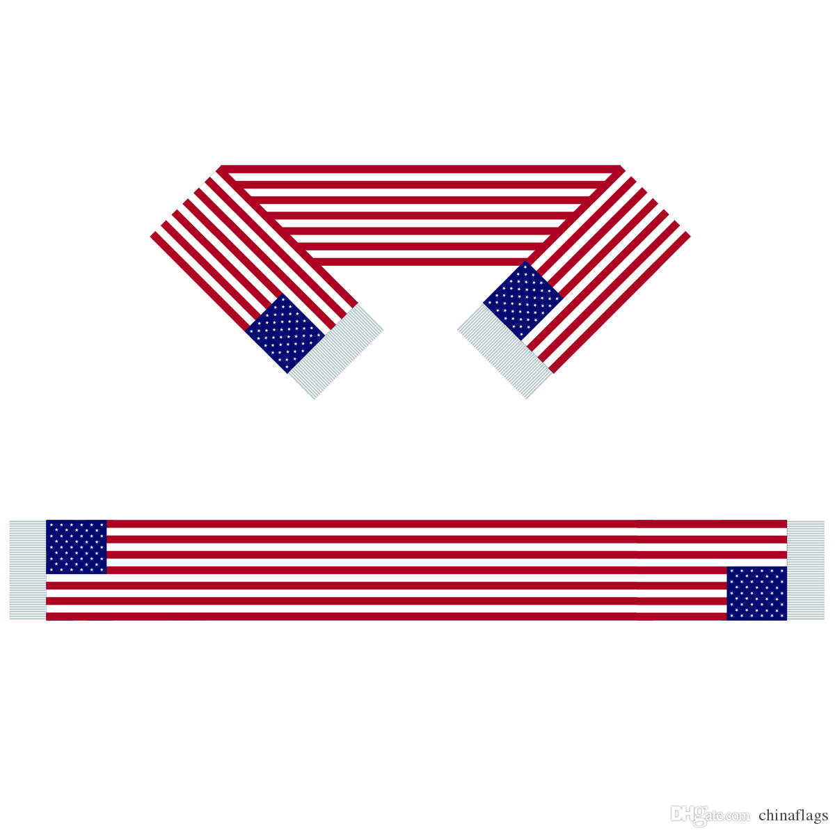 The United States Scarf Banner 6X60 inch 100% Polyester, World Flag Scarf, puede usar personas o juegos que le brinden apoyo