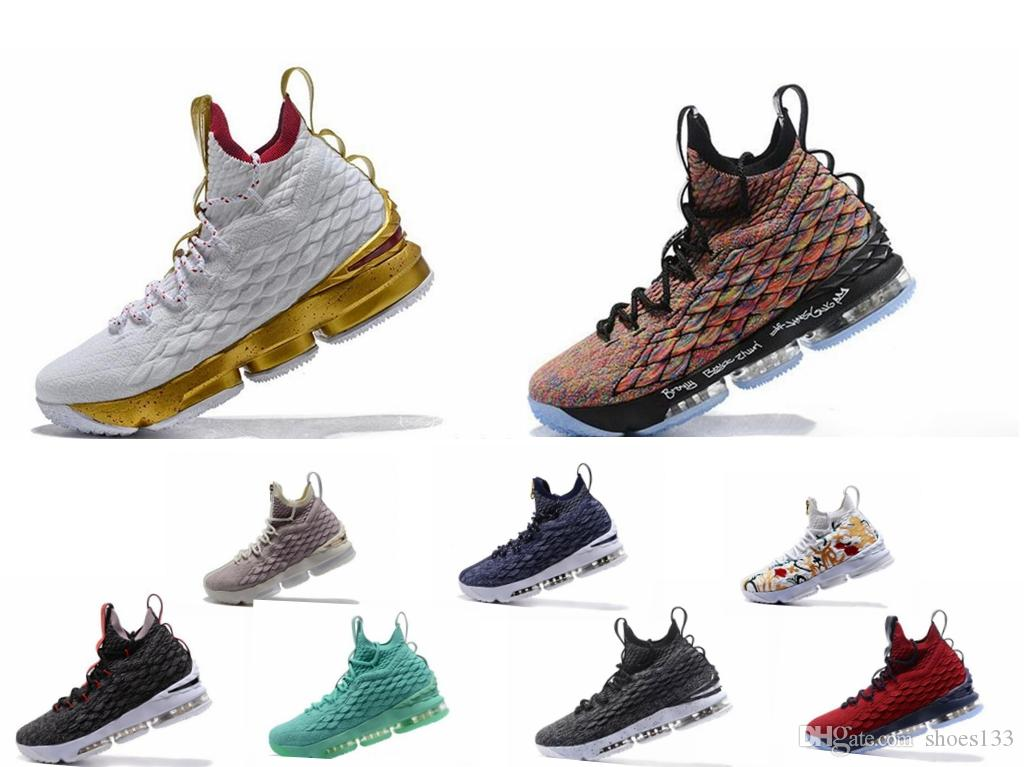 hot sale online 984f6 d3361 High Quality Newest Ashes Ghost Lebron 15 Shoes Arrival Sneakers 15s Mens  Casual 15s King James sports shoes LBJ EUR 40-46