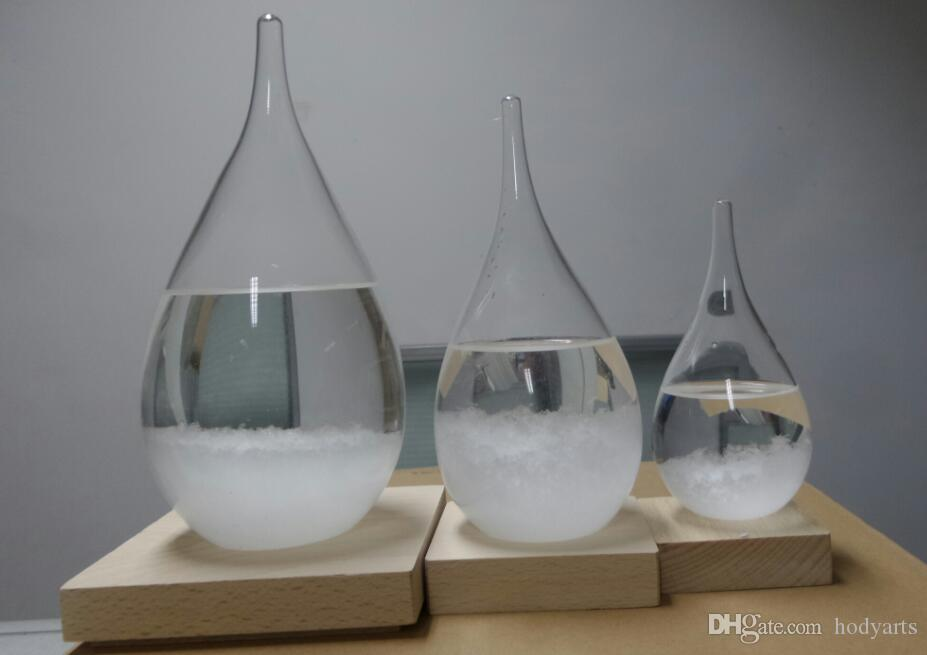 Wholesale Fashion Design and High Quality Teardrop Weather Storm Glass with Diameter 6cm x Height 12cm in Gift Box Package