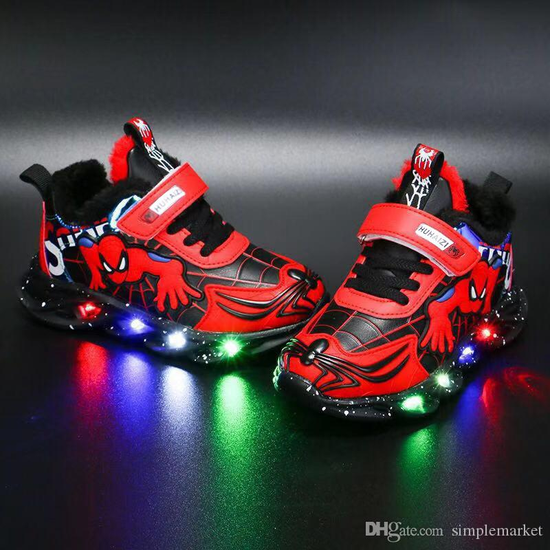 Kids Designer shoes Sports Running Shoes Children Boy Girls Trainers SneakersSpider-man light shoe boy leather sneakers Basketball shoes