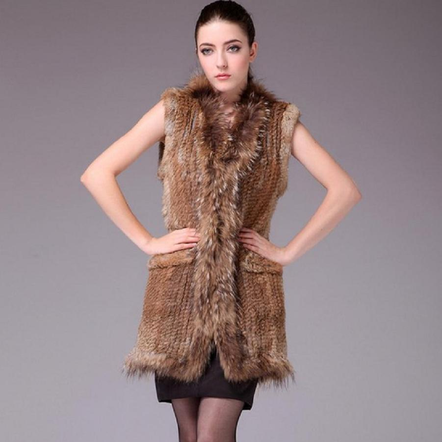 4dcac84a 2019 Factory Direct Autumn And Winter Warm Real Rabbit Fur Vest Women'S  Europe Style Fur Coat Rabbit Hair Weaving Vest W1988 From Ceciliasa, ...