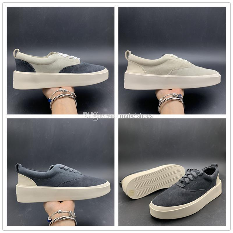 Actualización de Fear Of God X Men Casual Shoes la temporada 5 Suede Shoes Skateboarding Italia lujo Slip-On FOG zapatos del diseñador de moda