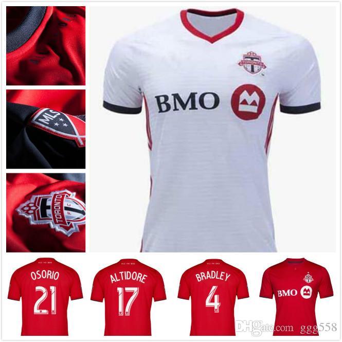buy popular 22a91 6f97e TOP 2019 Toronto FC home Soccer Jersey 19/20 #10 GIOVINCO Red Soccer Shirt  Customized MLS football uniform Sales