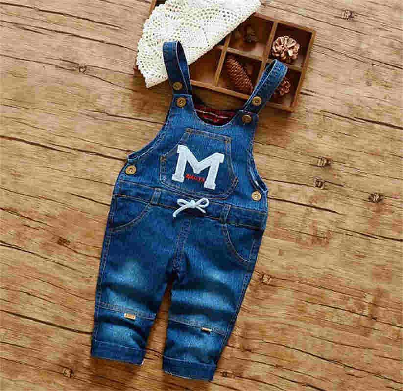 b95871e7a54 2019 BibiCola Baby Pants Overalls Summer Spring Strap Pants Kids Girls Jeans  Toddler Denim Jumpsuit Trousers Infant Pants From Cynthia05