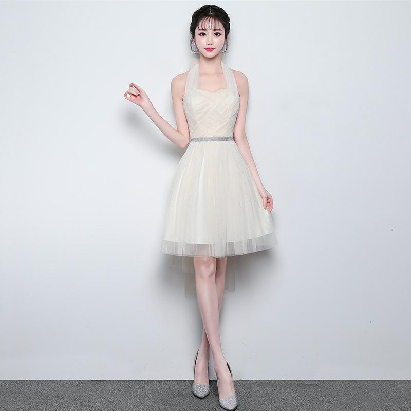 5fd497aec50f2 Satın Al Stokta Kısa Şampanya Genç Gelinlik Modelleri Kız Balo Düğün Için  MeshTulle Balo Parti Tatil Abiye Giyim Performans Gösterisi, $18.2 |  DHgate.Com'da