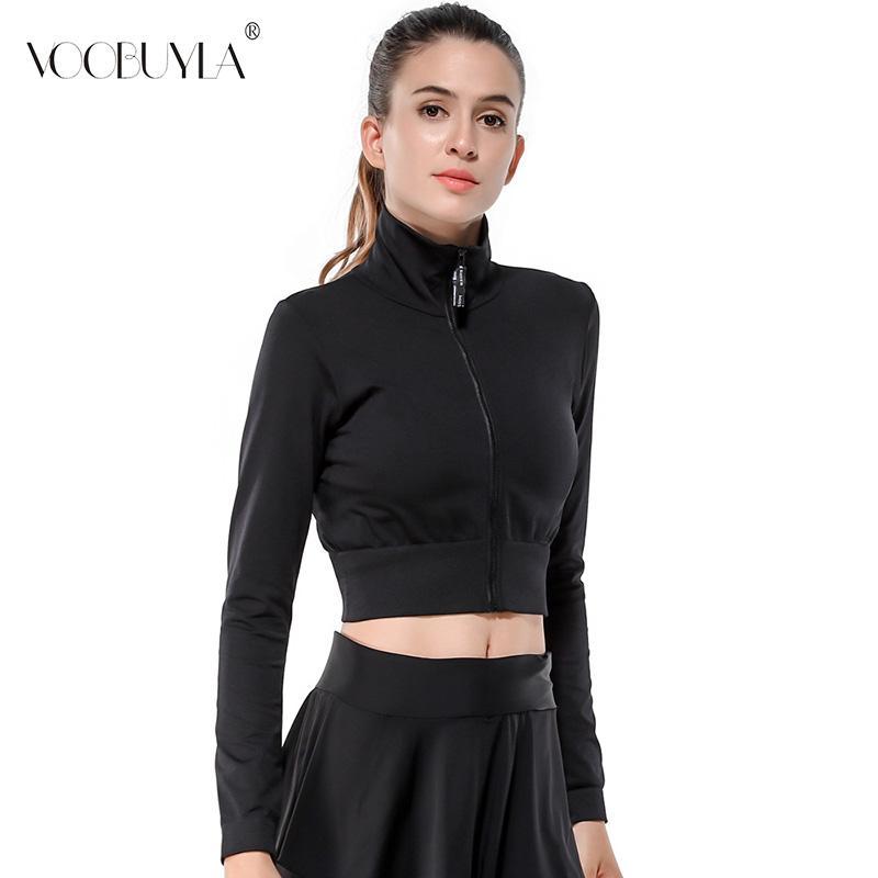 2019 Voobuyla Women Running Jacket 2019 Spring Yoga Jacket Zipper ... 02b4b262aa6bc
