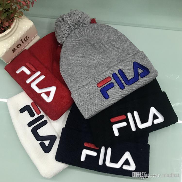 aaf08853f21 Wholesale Newest Outdoor F Logo Winter Hat Beanie Skull Caps Wool Hat Men  And Women Thickening Warm Ear Protection Cap Knitted Head Hat Snapback Hats  Cowboy ...