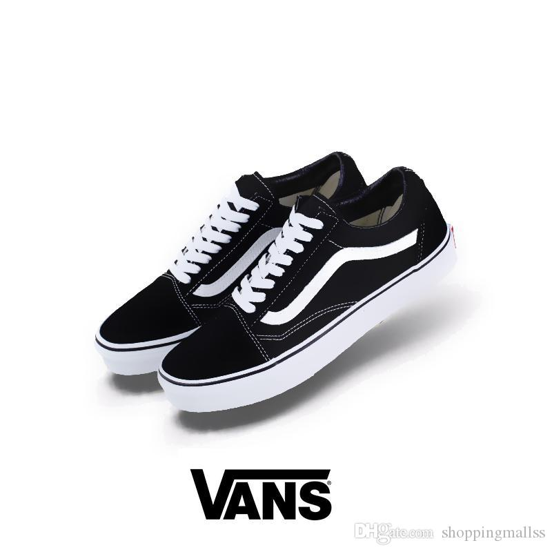 e40b289adbfada 2019 2018 New Athentic Vans Classic Old Skool Canvas Mens Skateboard  Designer Sports Running Shoes For Men Sneakers Women Casual Trainers From  ...