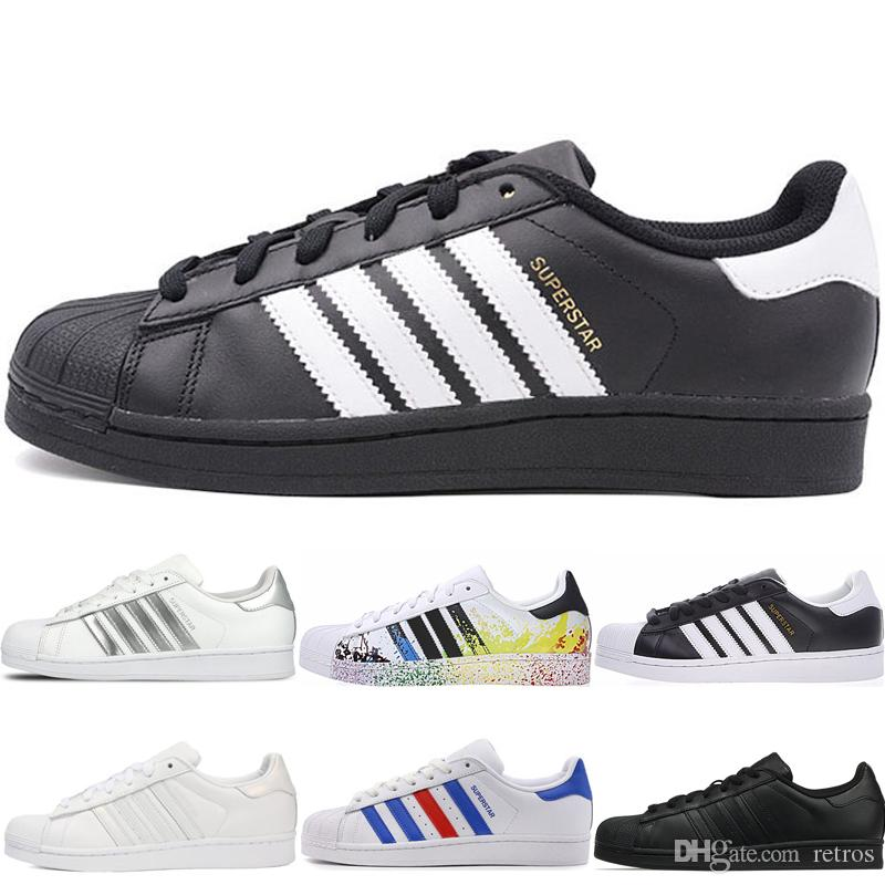 Adidas Superstar 2019 New Super Star Triple noir blanc Hommes Baskets Superstars 80s Pride Womens Hommes Femmes rouge formateurs Superstar Casual