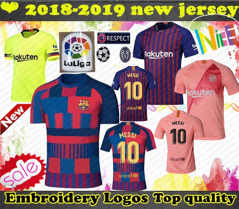 0909bd2bb72 Top Barcelona 10 MESSI Soccer Jersey 8 A.INIESTA 9 Suárez 11 DEMBELE ...