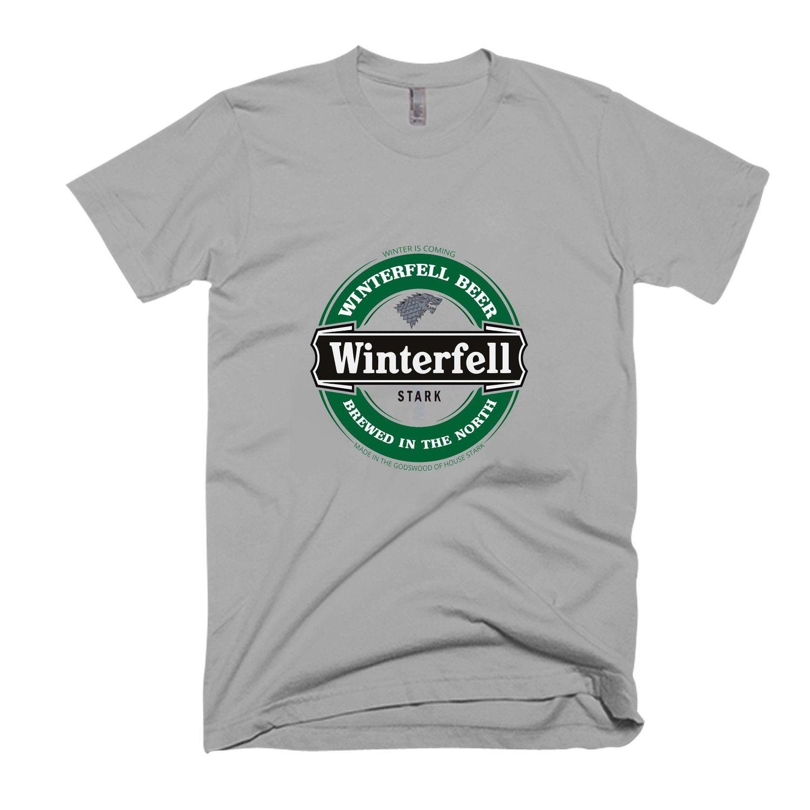a0f0336cf1281 Winterfell Beer T-shirt homme / femme rigolo t-shirt 100% coton harajuku  T-shirt Eté 2018