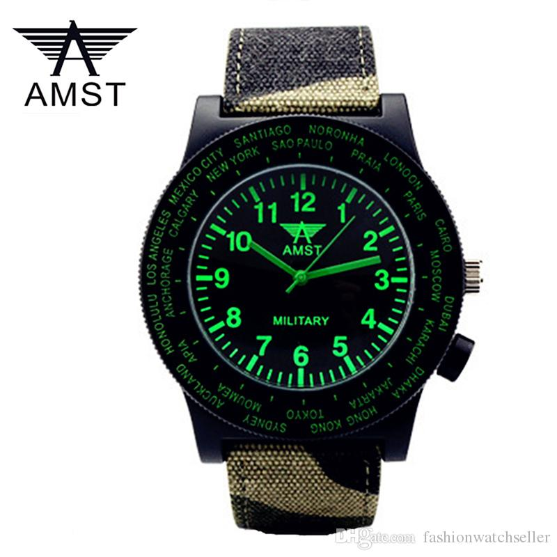 cebf0d6b148 Compre AMST Mens Relógios De Pulso Top Marca De Luxo Homens Famosos Relógios  Masculinos Relógio De Quartzo Relógio Mostrador Preto Relógios De Pulso  China ...