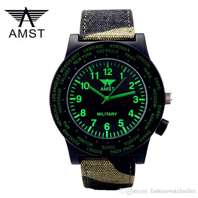 ba834c150246 Compre AMST Relojes De Pulsera Para Hombre Marca De Prestigio De Lujo Relojes  Para Hombres Reloj De Cuarzo Para Hombre Reloj Con Esfera Negra Relojes De  ...