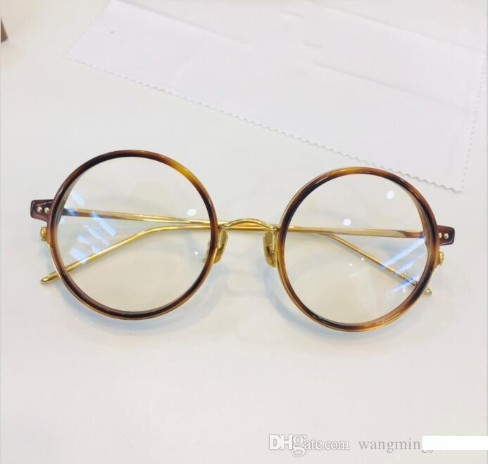 eyeglasses frame Titanium frame glasses frame restoring ancient ways oculos de grau men and women myopia eye glasses frames with box 801