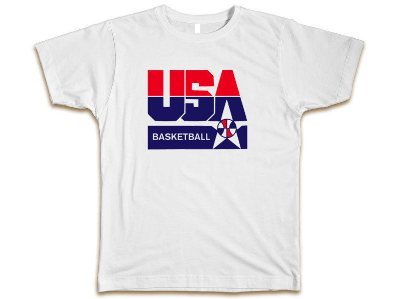 USA Basketball Olympic Team Summer League T shirt White New Size S-3XL Hip Hop Style Tops New Brand-Clothing Tee 2018 Short Sleeve