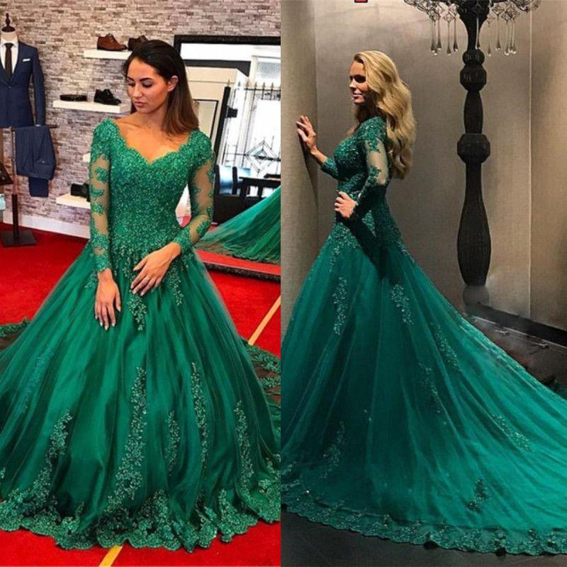 Vestidos de gala color verde