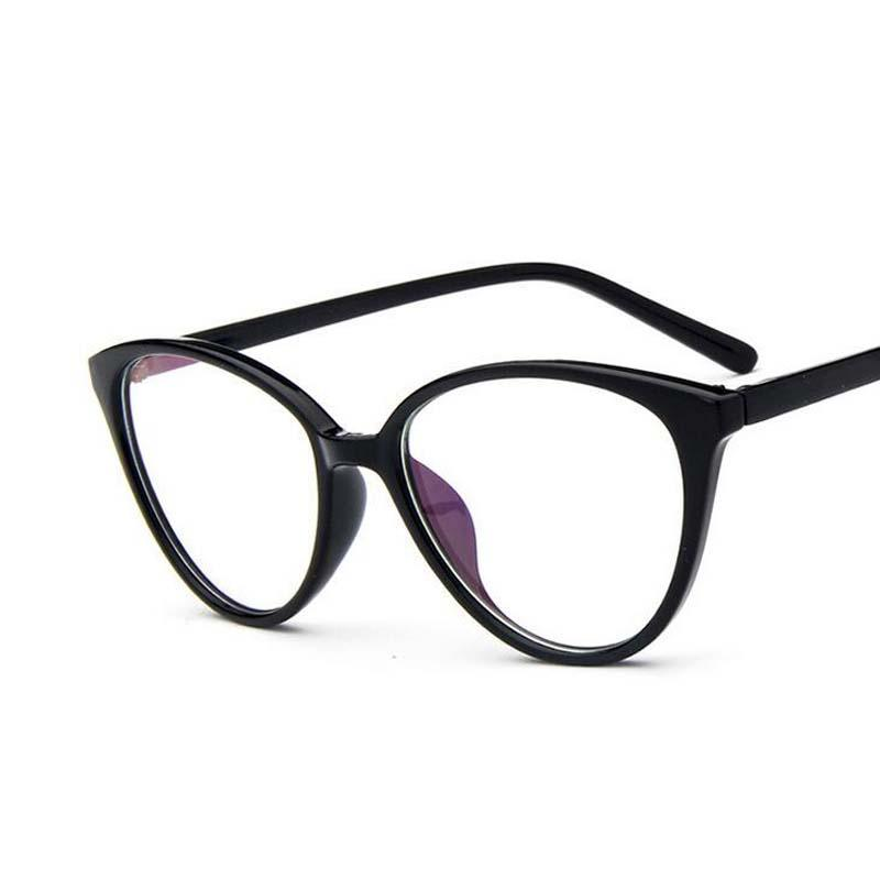 Spectacle frame cat eye Glasses frame clear lens Women  Eyewear optical frames myopia nerd black red eyeglasses