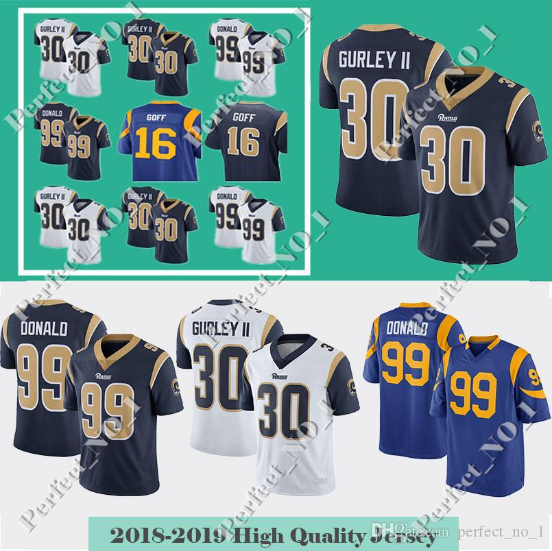 Men St.louis 30 Todd Gurley II 99 Aaron Donald Ram Jersey 16 Jared Goff 5  Nick Foles Color Rush Limited Jerseys. 30 Todd Gurley II 99 Aaron Donald 16  Jared ... 1a5db2290