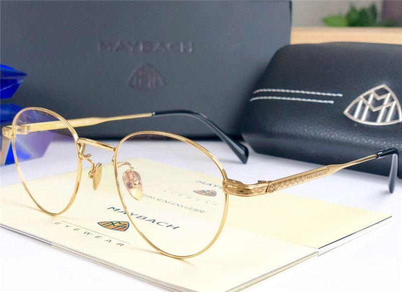 2018 New Fashion Designer Optical Glasses MAYBACH Retro Round Titanium Frame  Vintage Fashion Style Clear Lens Transparent Eyewear UK 2019 From  Joesunglasses ... 18c05b38da